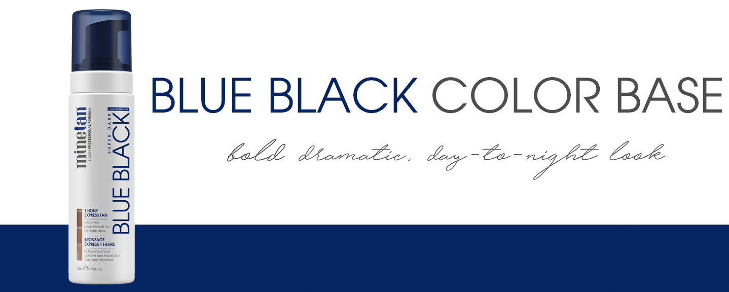 Blue Black Color Base Self Tan Foam