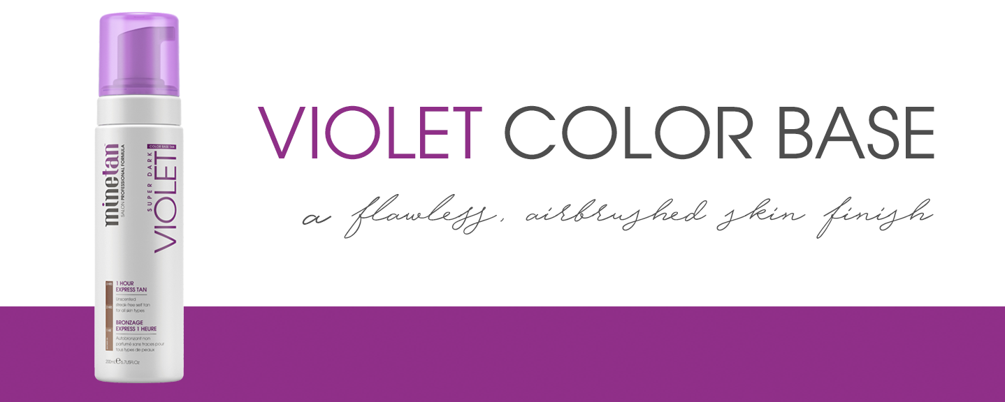 Violet Color Base Self Tan Foam