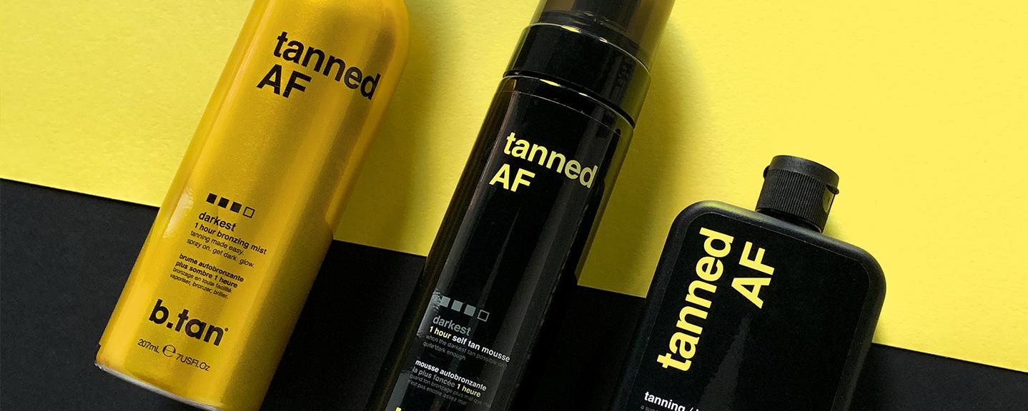 b.tan tanned AF range