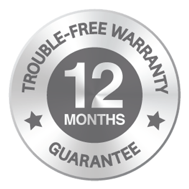 12 Month Warranty Badge