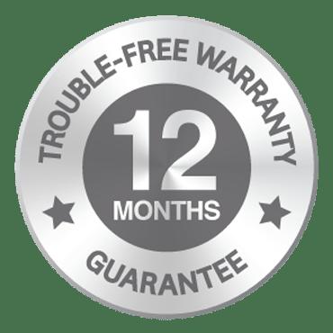 12 Month Warranty Badge