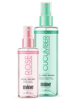 MineTan Rose Facial Tan Mist and Cucumber Tan Mist